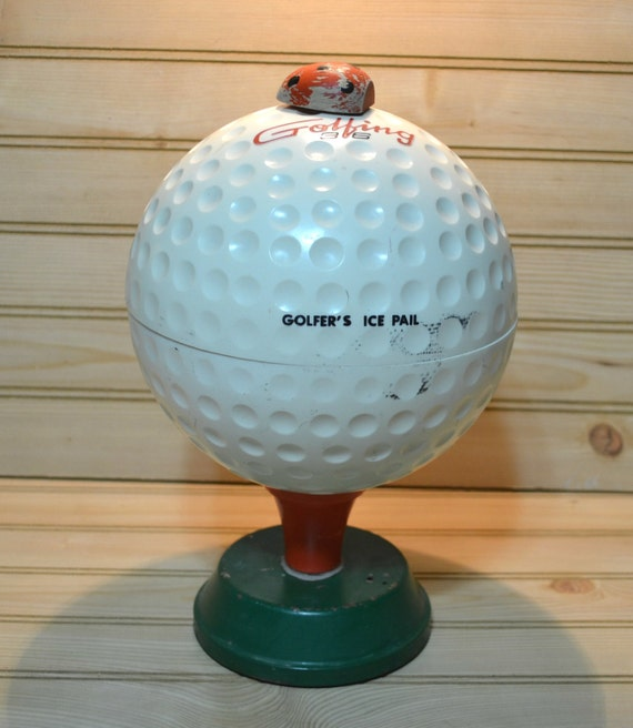 vintage golf ball ice bucket ladybug rc golfing 36 insulated etsy