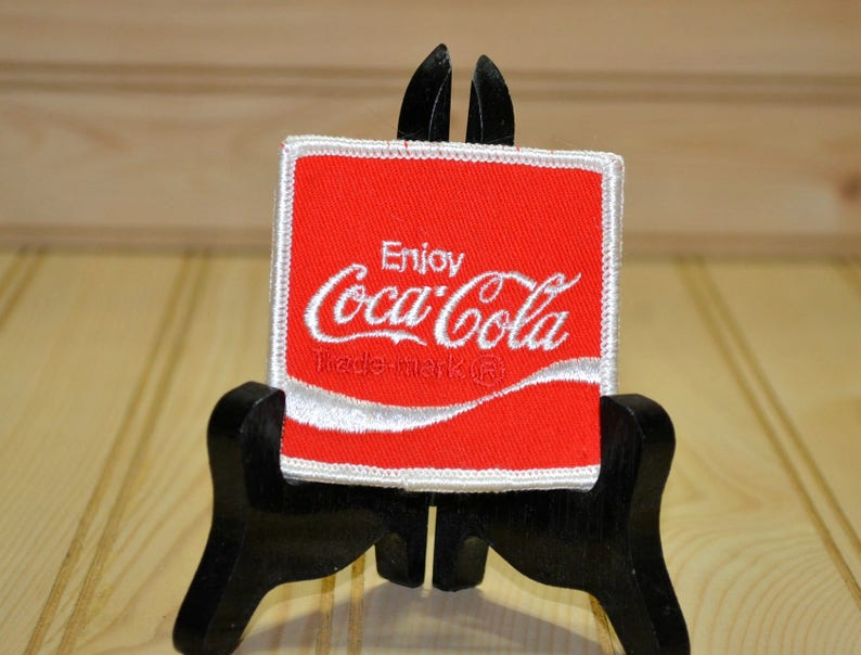 Vintage Coke Patch Enjoy Coca Cola Embroidered Applique Etsy
