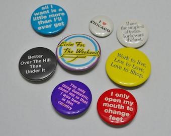 Vintage Button Pins Pinbacks set 3