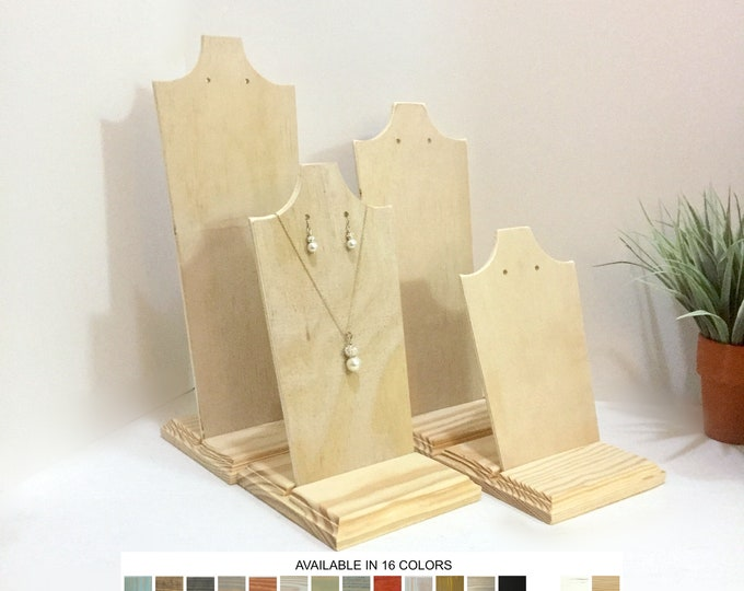 Necklace and Earrings Displays Set of 4 Busts