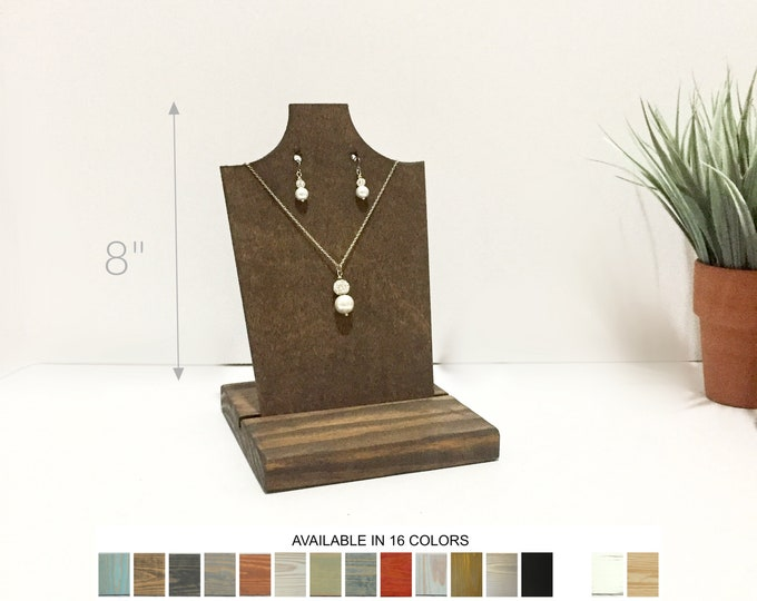 Necklace with Earrings Displays 8-inch