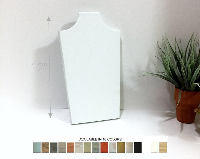 Necklace Displays 10 inch Collapsible Wooden  Busts Neck Forms Jewelry Stands Holders for Retail Fixtures Craft Shows Markets White Displays