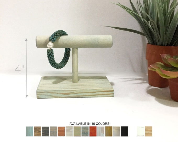 Yoga Bracelet Displays Jewelry Stands Holders Organizers Retail Fixtures Bleached Blue