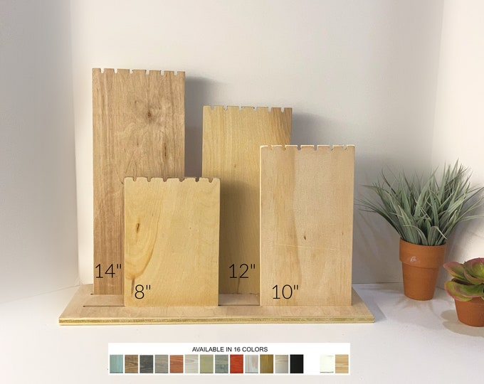 Slotted Necklace Displays with Single Base