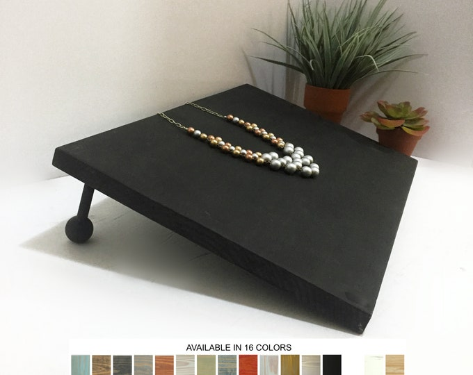 Necklace Display Board, Jewelry Display Board, Tilted Slanted Necklace Holder Stand for Retail Craft Show Market Fixtures