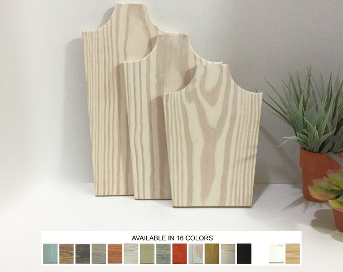 Collapsible Wood Necklace Displays Busts Set of 3