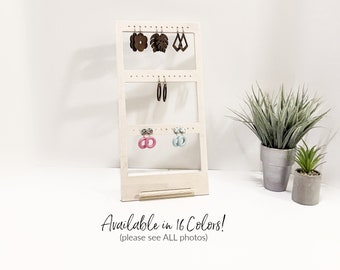 Earrings Displays Wood Jewelry Displays Post Wire Clip-On Earrings Stands for Retail Boutique Fixtures Craft Trade Shows Props