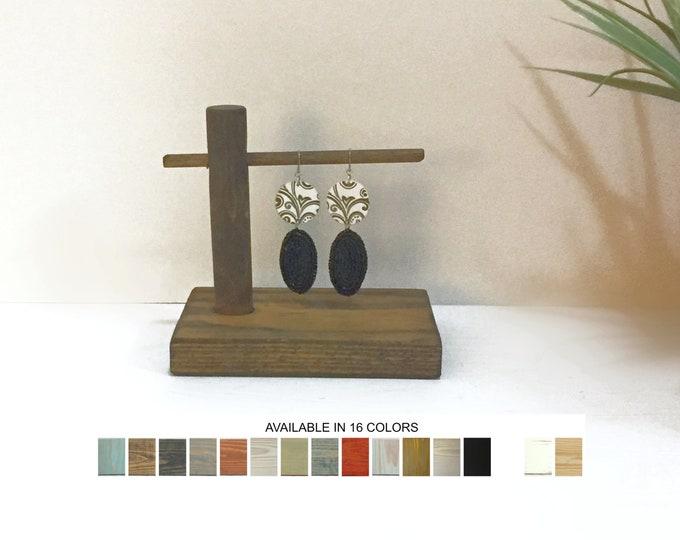 Wooden Earring Display Single Bar