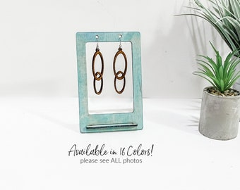 Earrings Display Stand 4 Bar Shabby White