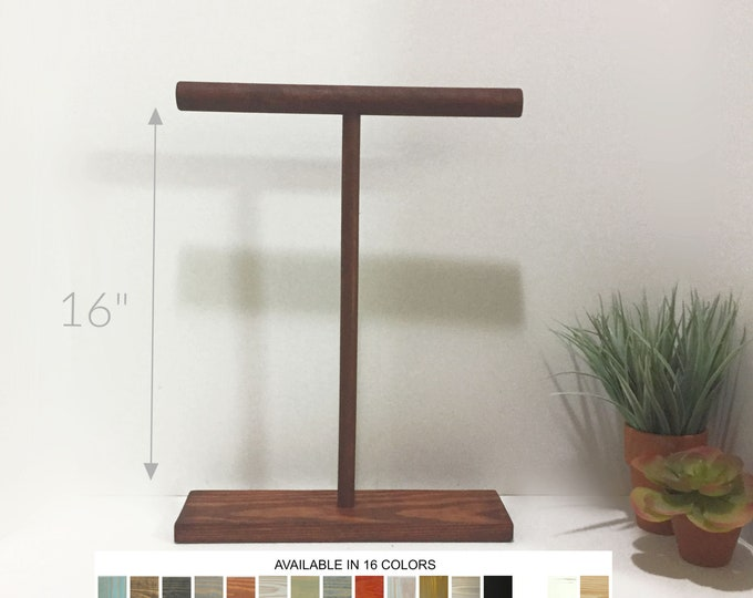 Necklace Displays T-bar Jewelry Displays 16-inch Stands Holders Organizers Wooden Retail Fixtures