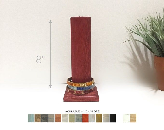 Bracelets Displays Pole 8-inch Matte White