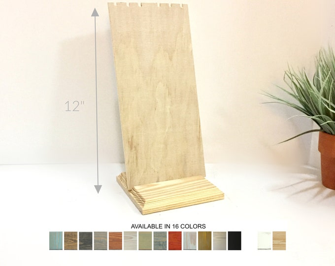 Wood Necklace Displays Removable Slotted Necklace Stand Jewelry Displays Retail Fixtures Craft Shows 12-inches