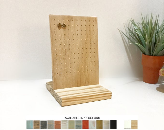 Earrings Display Stand Stud Post Small Natural Wood