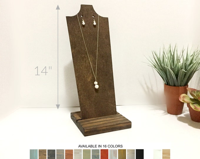 Necklace and Earrings Display Stand 14-inches