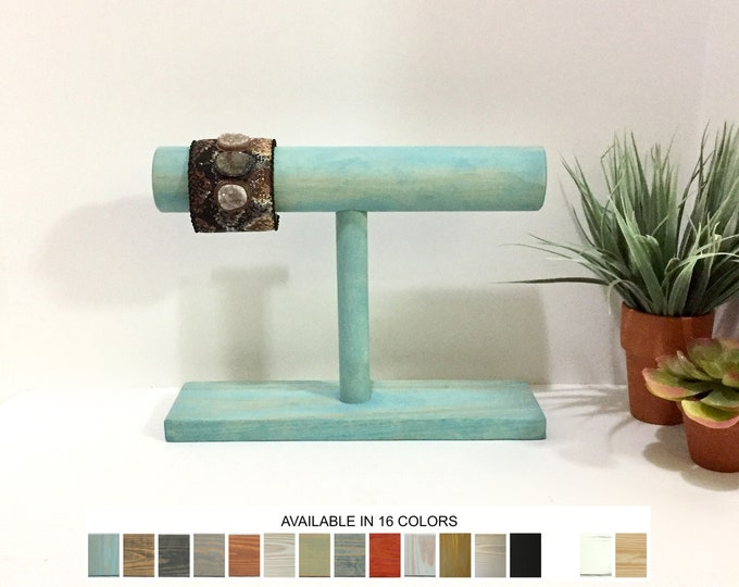 Bracelet Display Stand Single Aqua Blue