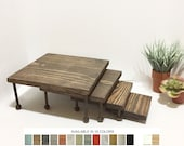 Display Tables Product Displays Nesting Tables Set of 4 Square Wooden Jewelry Displays Platforms Risers Stands