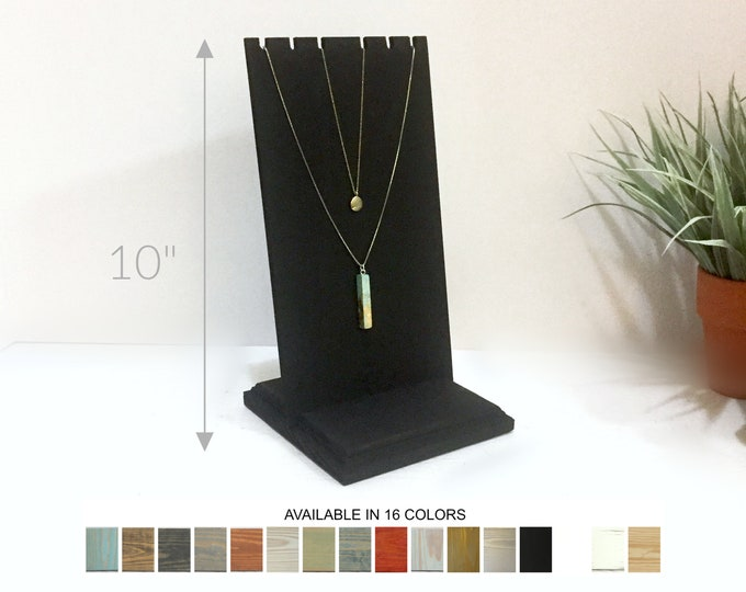 Slotted Necklace Display Stand 10-inches