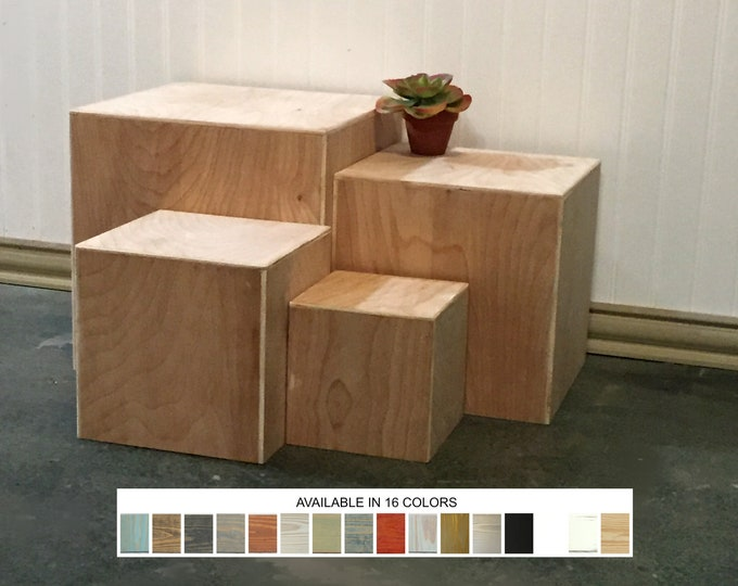 Display Boxes Nesting Tables Set of 4