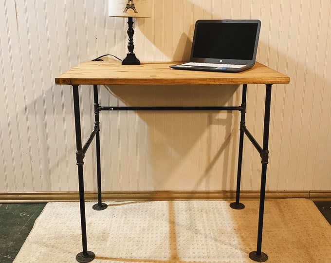 Cast Iron Wood Desk