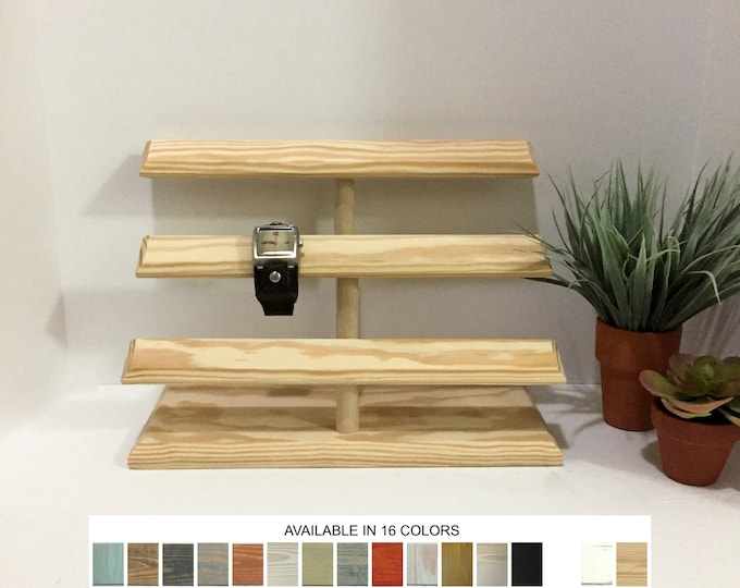 Watch Displays Stands Multi Level Holders Storage Organizers Retail Store Fixtures Natural Wood