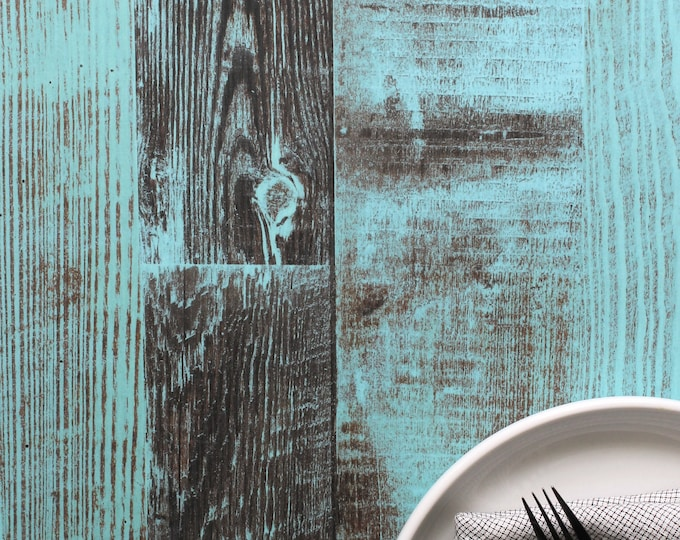Reversible Photography Surface Backgrounds Blue Pine Distressed Wood