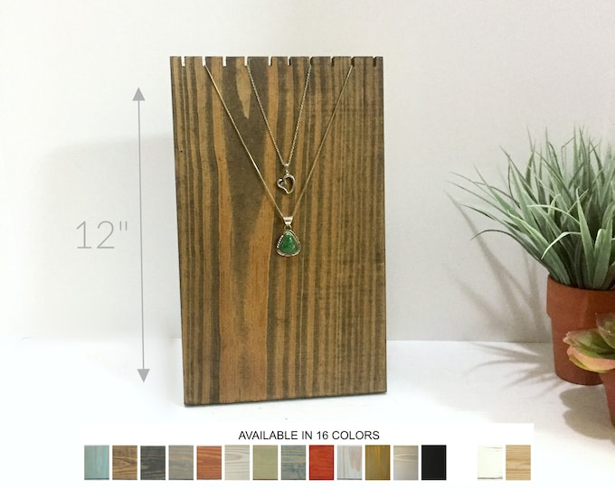 Collapsible Slotted Necklace Display Bust 12-inches