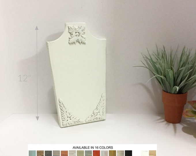 Collapsible Necklace Displays Busts 12-inches with Appliqué Stands Holders Neck Forms Retail Fixtures