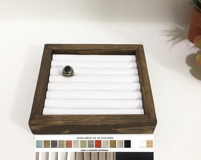 Wooden Rings Displays Trays Risers Holders Stands Jewelry Displays Organizers