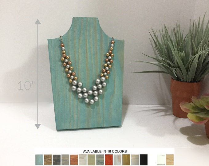 Collapsible Wood Necklace Displays 10 inch Busts