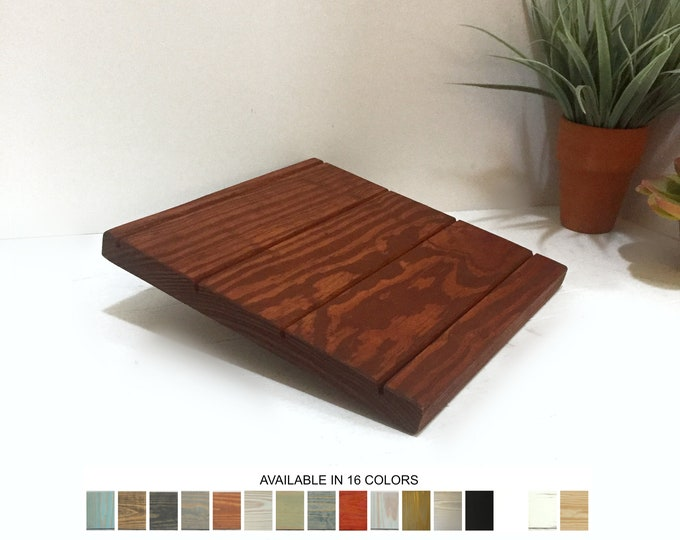Earring Card Display Stand Small Cognac Wood