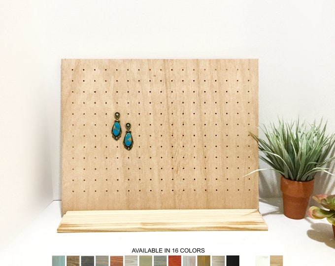 Earrings Display Stand Stud Post Board Natural Wood