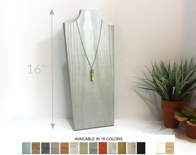 Collapsible Necklace Displays 16 inches Wooden Busts Neck Forms Jewelry Displays Props Stands Holders Retail Fixtures