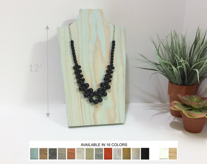 Collapsible Wooden Necklace Displays Busts Neck Forms Jewelry Stands Holders for Retail Fixtures Craft Shows Markets