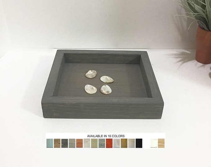 Wooden Valet Tray Jewelry Displays Beads Findings Charms Organizer Trinkets Ring Dish