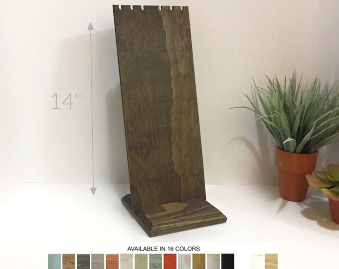 Wood Removable Slotted Necklace Jewelry Displays Stands Holders for Retail Craft Show Market Fixtures 14-inches