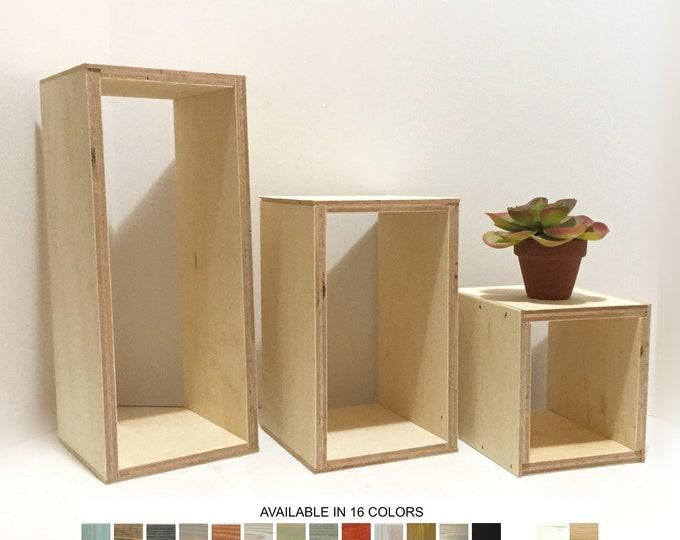Risers Pillars Platforms Pedestals Plinths Product Displays Stands Wall Decor Set of 3