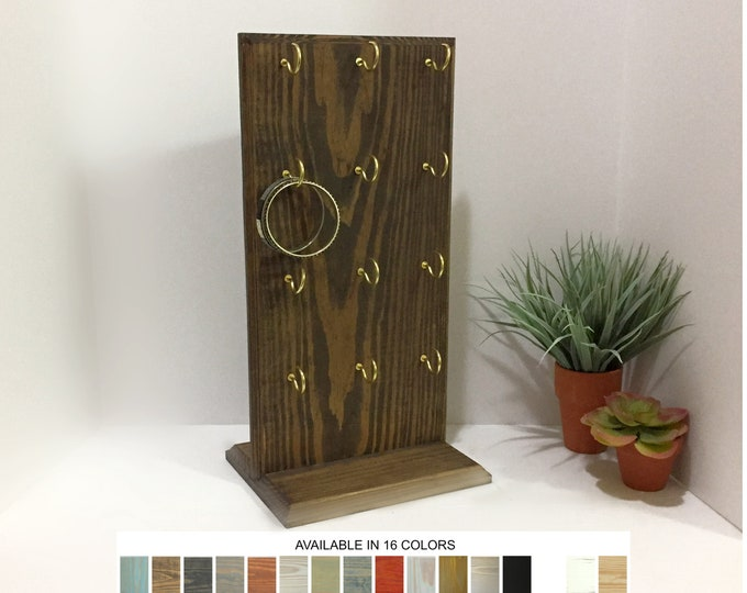 Bracelet Display Board Ash Brown Wood