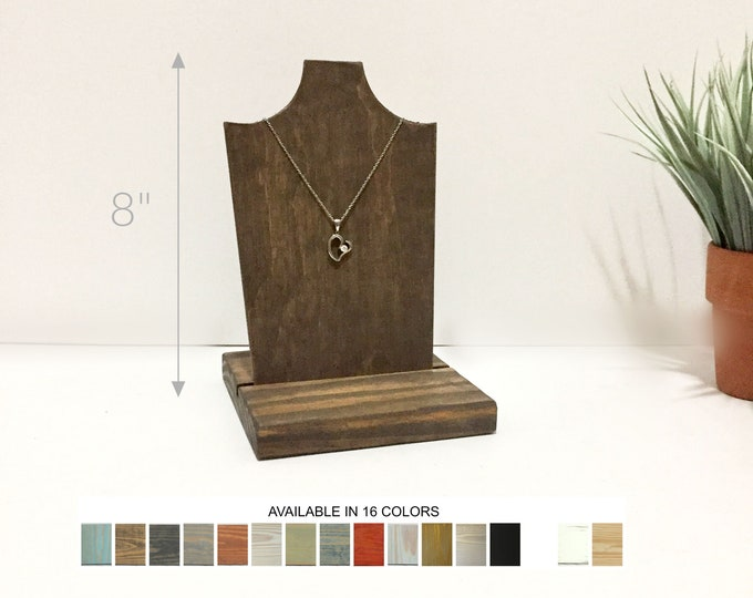 Necklace Displays Removable Bust 8-inches