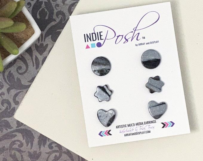 Polymer Clay Stud Earrings Set