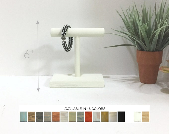 T-bar Bracelet Displays 6-inch Jewelry Stands Holders Organizers Retail Fixtures White
