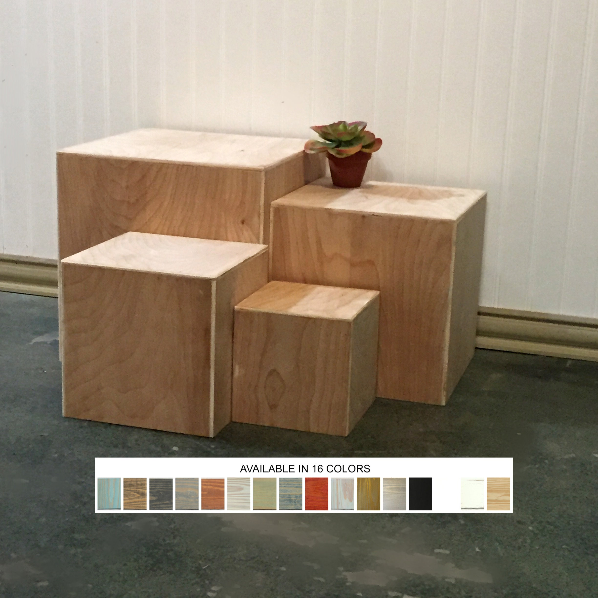 Display Boxes Nesting Tables Product Stands Risers Set Of 4