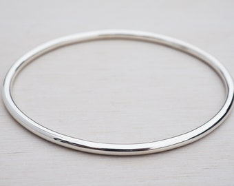 340acaba1c5 Solid Silver Bangle   Sterling Silver