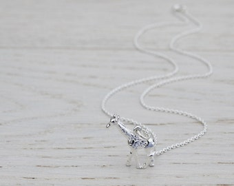 Silver Giraffe Necklace - Sterling Silver