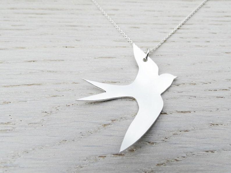 dccfa88ea164cc Silver Swift Necklace Sterling Silver Bird | Etsy