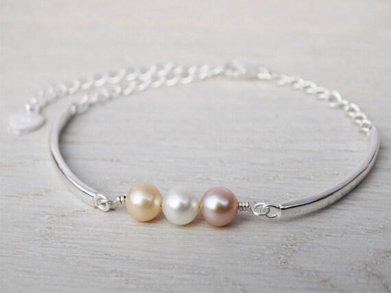Pearl Bracelet - Sterling Silver - Freshwater Pearls