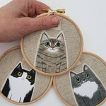 Custom cat portrait,  Personalised pet portrait,  Cat Mom gift, pet memorial,  cat lover gift, girlfriend gift