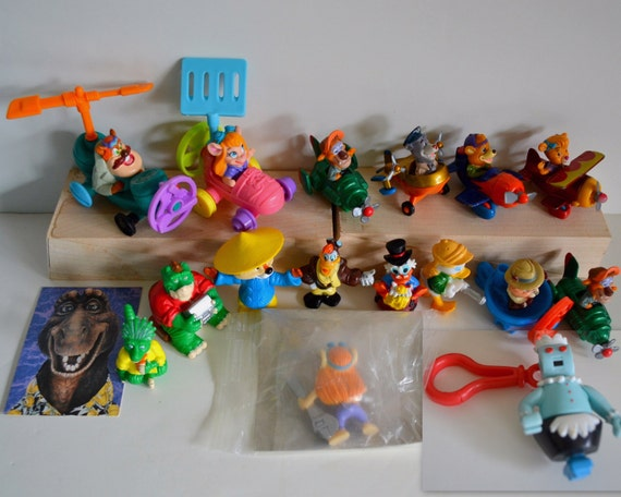 vintage lot of 17 toys action figures card 1980s 90s etsy