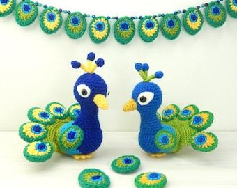 Paksha the Peacock - Amigurumi Crochet Pattern
