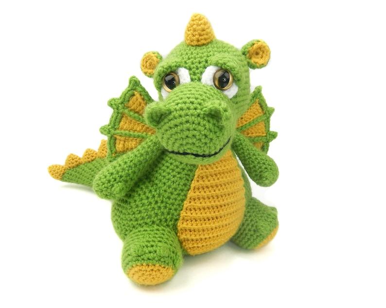 Drake the Dragon  Amigurumi Crochet Pattern image 0