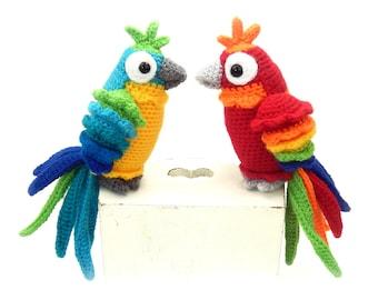 Paulo and Paula Parrot - Amigurumi Crochet Pattern